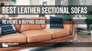 best leather sectionals