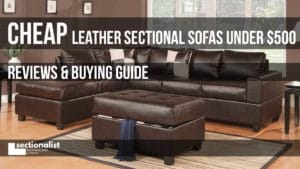 cheap leather sectional sofas under 500